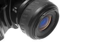 Plan rapproché de l'objectif de caméra de SLR Photographie stock
