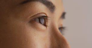 Plan rapproché de l'oeil de la femme japonaise célibataire image libre de droits