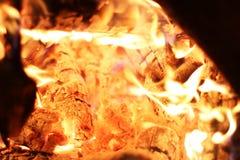Plan rapproché de la chaleur du feu photos libres de droits