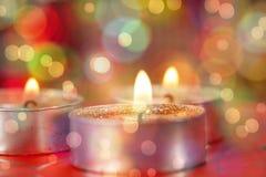 Plan rapproché de la combustion de bougies Image stock