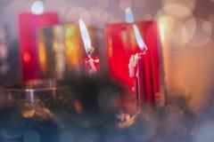 Plan rapproché de la combustion de bougies Images libres de droits