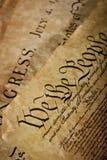 Plan rapproché de la constitution des États-Unis Photographie stock libre de droits