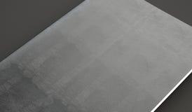 Plan rapproché de la couverture en cuir sur le manuel, fond gris 3d rendent Image stock