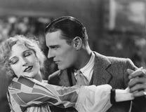 Plan rapproché de la danse de couples Images libres de droits
