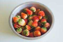 Plan rapproché de la fraise mûre dans le jardin photographie stock