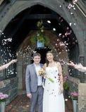 Plan rapproché de la mariée et du marié Image stock