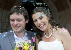 Plan rapproché de la mariée et du marié Images stock
