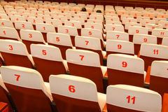 Chaises de théâtre Photographie stock libre de droits