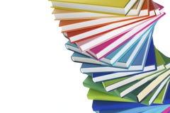 Plan rapproché de la pile spiralée de livres Image stock