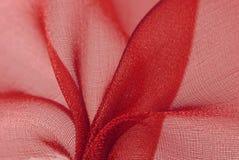 Tissu rouge d'organza Photo libre de droits