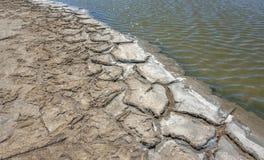 Plan rapproché de lagune de saumure photos libres de droits
