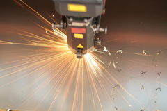 Plan rapproché de laser Photographie stock