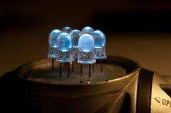 Plan rapproché de LED Images stock