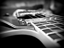 Plan rapproché de Les Paul Guitar Images libres de droits