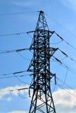 Plan rapproché de ligne électrique Images libres de droits