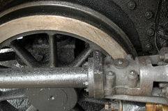 Plan rapproché de locomotive à vapeur Image libre de droits