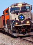 Plan rapproché de locomotives Images libres de droits