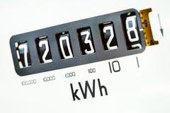 Plan rapproché de mètre électrique Photo stock