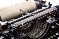 Plan rapproché de mécanisme de ruban de machine à écrire de vintage Image stock