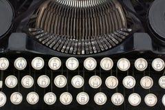 Plan rapproché de machine à écrire Images stock