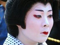 Plan rapproché de maquillage de geisha image libre de droits