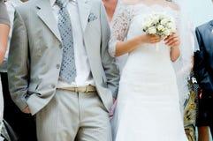 Plan rapproché de mariée et de marié Photo libre de droits