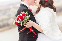 Plan rapproché de mariage d'hiver Photographie stock