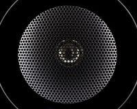 Plan rapproché de membrane de haut-parleurs de musique Photo libre de droits