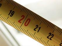 Plan rapproché de mesure de bande, photographié à l'intérieur Photos stock