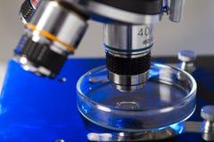 Plan rapproché de microscope Image stock