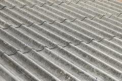 Plan rapproché de modèle de toit d'amiante Photos stock
