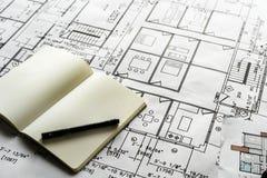 Plan rapproché de modèle de plan de maison photos libres de droits