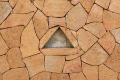 Plan rapproché de mur de briques Image libre de droits