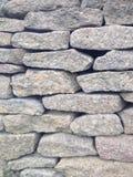 Plan rapproché de mur de pierres sèches Photo libre de droits
