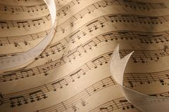 Plan rapproché de musique de feuille. Image stock