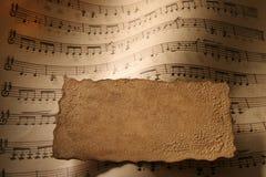 Plan rapproché de musique de feuille. Images libres de droits