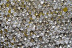 Plan rapproché de nombreux marbres en verre Image libre de droits