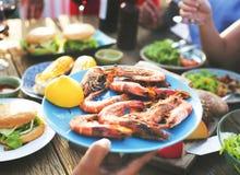 Plan rapproché de nourriture en partie Photographie stock