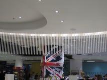Plan rapproché de nouvelle conception dans la boutique hors taxe d'aéroport de Malaga Image libre de droits