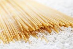 Plan rapproché de pâtes de spaghetti Photos stock