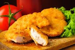 Plan rapproché de pépites de poulet Images libres de droits