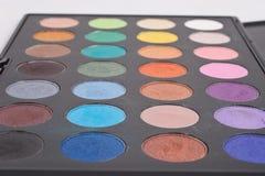 Plan rapproché de palette de maquillage Images libres de droits