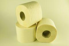 Plan rapproché de papier hygiénique d'isolement Photographie stock libre de droits
