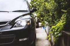 Plan rapproché de phare de voiture Images libres de droits