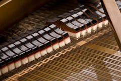 Plan rapproché de piano à queue Image libre de droits