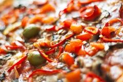 Plan rapproché de pizza Photographie stock libre de droits
