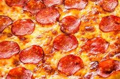 Plan rapproché de pizza de pepperoni photographie stock