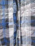 Plan rapproché de plaid de tartan bleu Photos stock