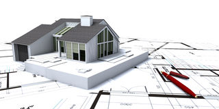 Plan rapproché de planification de Chambre illustration de vecteur