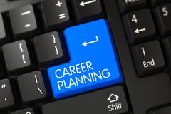 Plan rapproché de planification des carrières de clavier numérique bleu de clavier 3d Photos libres de droits